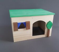 Rat Large Wooden House Hamster Cage Rodents Pet Gerbil Degu Beds Chinchilla x1