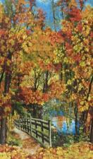 Autumn Landscape Nature Quilt Sew Fabric TIMELESS TREASURES