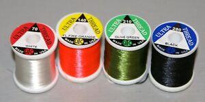 WAPSI UTC FLY TYING THREADS 70 Denier. Full range of colours 100yd spools.