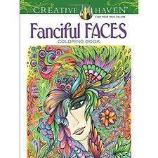 Fanciful Faces Adult Colouring Book Creative Mind Body Art Therapy Relax and Fun