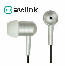 IN EAR Earphones Headphones Hands Free Silver Metal iPhone 6 Samsung HTC MP3
