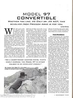 1999 FREEDOM ARMS Model 97 Convertible Revolver Evaluation Article 4 pages