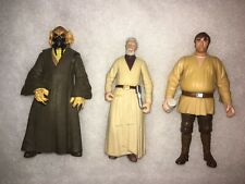 Star Wars Action Figure lot from year 2000 3 figures bartender, Obi-wan & other.