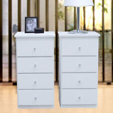 New 2 Slim Bed side Tables/White 4 drawers, 79cm H Wardrobe insert, Syd, Mel, Br