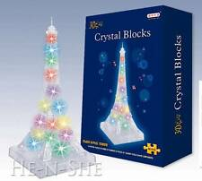 80 PCS 3D Crystal Puzzle Eiffel Tower with Light and Music 9839-9035A