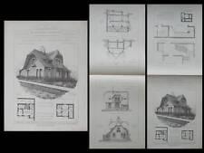 DINARD, VILLA LES ELFES - PLANCHES ARCHITECTURE 1914 - RADEL, SAINT ENOGAT