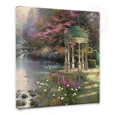 "Thomas Kinkade Garden of Prayer 14"" x 14"" Gallery Wrapped Canvas"