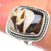 Peanut Wood Jasper 925 Sterling Silver Ring Size 6 Ana Co Jewelry R56091F