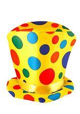 Costume Clown Arcobaleno a Puntini Cappello Alto misura adulto accessorio del circo (h21 057)