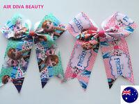 1X Girls Big Bow School FROZEN ELSA ANNA Hair Alligator Clip Ponytail Scrunchies