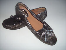 New CLARKS Artisan metallic leather snake print loafer shoes US Sz 6M