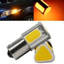 2pcs 12V 1156 4 COB LED Car Turn Signal Rear Light Lamp Bulb Amber Yellow New