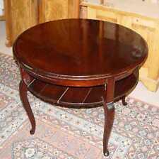Jugendstil/Art Deco/Tisch/Beistelltisch/rund + Ablage