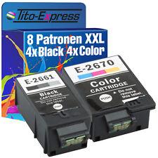 8 Cartouches D'imprimante xxl proserie pour Epson te266-te267 workforce wf-100 w 4k+4c
