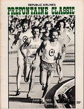 >1983 Steve PREFONTAINE CLASSIC PROGRAM Pre Classic @ Hayward Field, Scarce!!