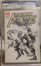 New Avengers #31 CGC 9.8 Sketch Cover.  Skrull Elektra!