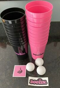Doozin Beer Pong Kit and 3 Balls Beer Pong Drinking Game Set Kit 20 Reusable Cup