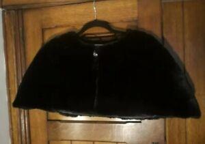 Vintage Style Bolero Shrug Faux Fur