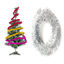 Christmas Tree Party Ornament 2m Tinsel Home Party Holiday Ribbon Garland Decor