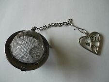 Mackintosh Heart Tea Ball Mesh Infuser Stainless Steel Sphere Strainer w23