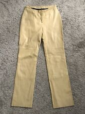 7d1cc886e0 BEBE Womens Size 8 Fits 6 Beige 100% Genuine Leather Pants Lined 32