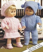 DOLL PREMATURE BABY 12/ 22 INCH KNITTING PATTERN  (1110)