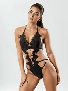 Ann Summers The Kinky Crush Monokini - Black - Sizes 8 - 16