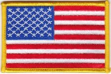 """2 Pcs USA American Flag (G) iron-on Embroidered Patches 3.5""""x2.25"""" iron-on"""