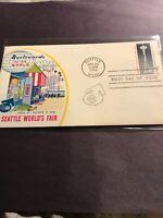 FDC Fleetwood USA 1962 Seattle World Fair RARE Cachet