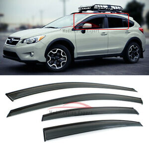 For 13-17 Subaru XV Crosstrek / 12-16 Impreza Hatchback Window Visor Rain Guard