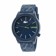 Lacoste 2010957 Motion Men's 42mm Blue Dial Silicone Watch