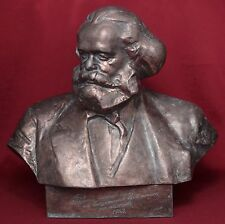 Rare Russian Soviet coppered metal bust Germany communist KARL MARX sc.Kerbel