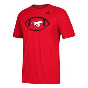 Calgary Stampeders CFL Adidas Men's Red Sideline Pigskin Climalite T-Shirt