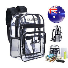 Clear PVC Transparent School Bag Security Backpack for Students Multiple Use AU