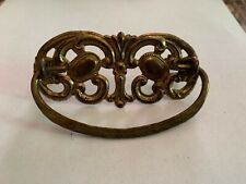 Antique Ornate Pressed Brass Drawer Pull Single