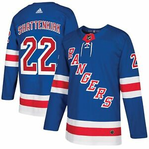 Mens New York Rangers Kevin Shattenkirk #22 Authentic Adidas Blue Jersey S 46