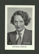 Marlene Dietrich Vintage 1931 Josetti Movie Film Collector Cigarette Card#299