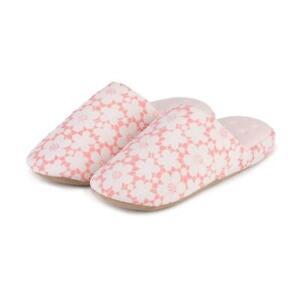 Isotoner Ladies Floral Mule Slippers