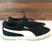 Puma Men's Classic Suede S Shoes Sneakers Black Gold White Size 13