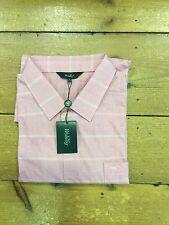 Wolsey Kingsize Check Dress Polo Shirt/pink/size 5XL