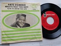 "FATS DOMINO - What's That You Got? / It's Never Too Late 1965 R&B BLUES 7"" p/s"