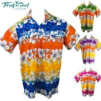 Hibiscus Mens Hawaiian Shirts Cruise Fancy Dress Bucks Party