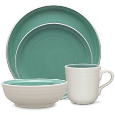NORITAKE COLORVARA 4 PIECE PLACE SETTING STONEWARE GREEN BRAND NEW IN BOX $58