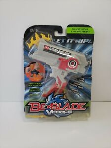 BEYBLADE V Force Red Duotron 2x Right Spin Launcher With Ripcord Hasbro, 2003