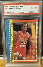1987 Michael Jordan Fleer Sticker # 2 PSA 6 EX-MT