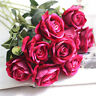 Artificial Simulation Roses Flannel Flower Bouquet Wedding Party Home Decor CA