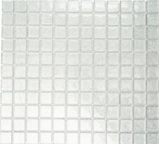 Glasmosaik silber glitzer Bad WC Fliesenspiegel Küche|Restposten|70-0207|1Matte