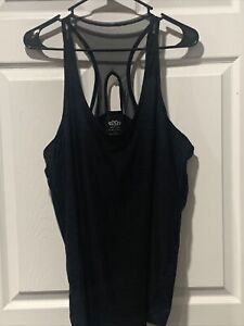 Maurices In Motion XXL Women's Black/Grey Workout Tank Top