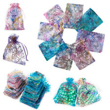100 Organza Gift Bags Jewellery Pouches Wedding Favor Party Christmas Drawstring