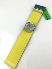 Orologio BENETTON WATCH CHRONO SPACE AGE VERO VINTAGE PELLE NEW OLD STOCK
